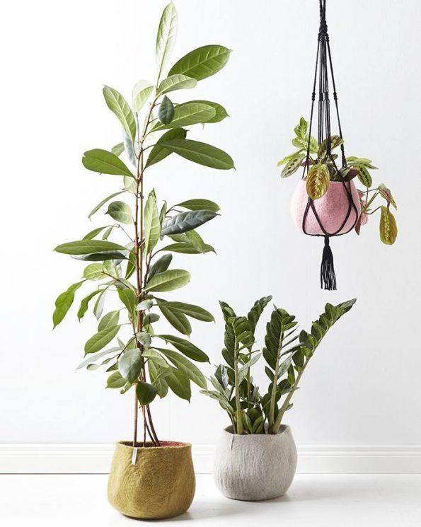 Alma de Alecrim - Loja online - Capa de vaso em lã feltrada - ambiente