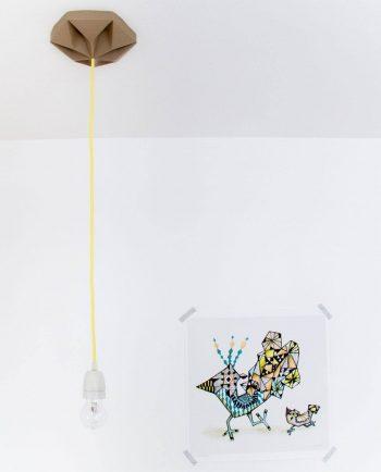 Alma de Alecrim - Loja Online - Rosácea de teto para Candeeiro Origami
