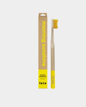 Alma de Alecrim - Escova de dentes de bambu Medium Amarela