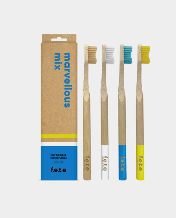 Alma de Alecrim - Pack família Escova de dentes de bambu medium