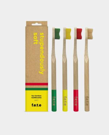 Alma de Alecrim - Pack família Escova de dentes de bambu soft