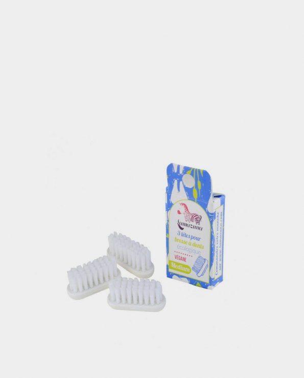 Alma de Alecrim - Loja Online - Recargas de cerdas médias para Escova de dentes reutilizável em bioplástico