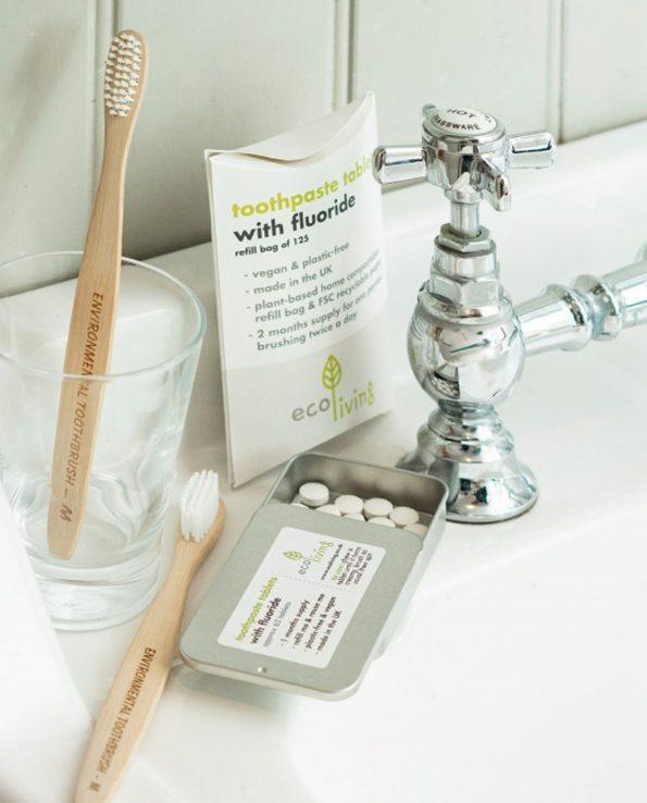 Alma de Alecrim - Loja Online - Pastilhas dos dentes - pasta dos dentes em pastilhas com flúor