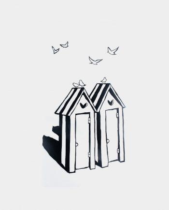 Alma de Alecrim - Loja Online - Sticker de parede em vinil recortado - Casinhas
