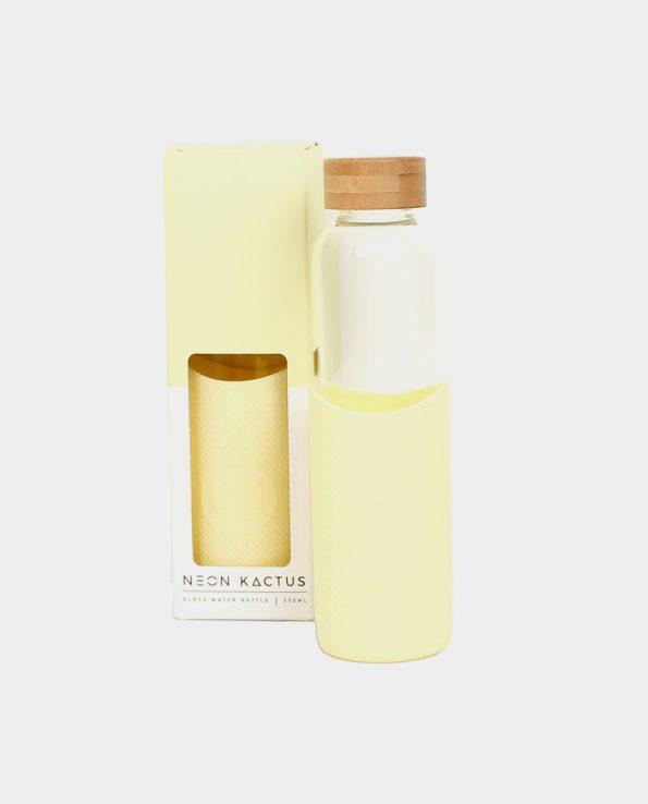 Alma de Alecrim - Loja Online - Garrafa de vidro Neon Kactus amarela com embalagem