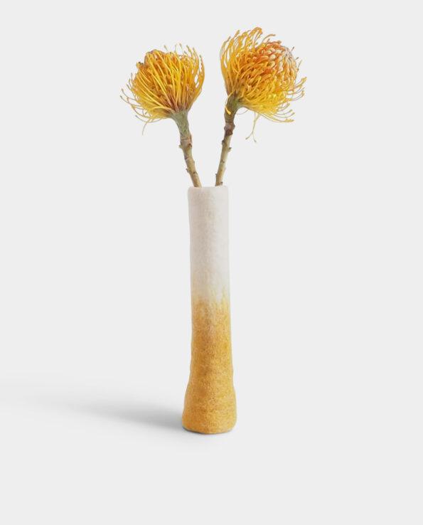 Alma de Alecrim - Loja Online - Jarra Solitário Amarela com flores