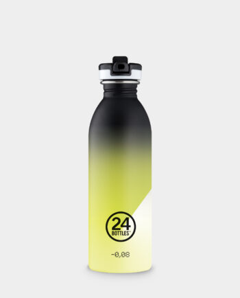 Alma de Alecrim - Garrafa urban Athleisure 0,5L Stardust amarela com tampa de desporto 24 Bottles