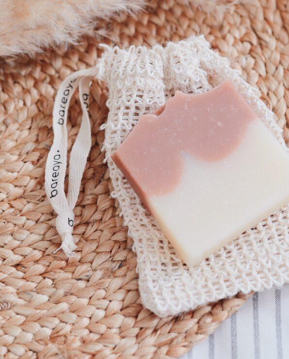 Alma de Alecrim - Sabão de barbear e depilar argila rosa e alecrim