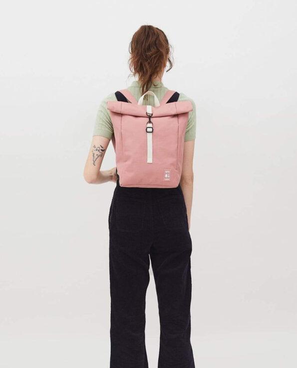 Lefrik - Alma de Alecrim - Loja online - Mochila Roll Mini rosa costas